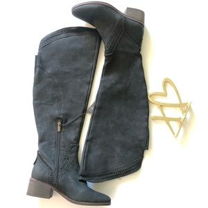 Vince Camuto widecalf over the knee boots black